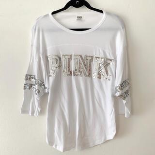 ヴィクトリアズシークレット(Victoria's Secret)のPINK ティーシャツ(Tシャツ/カットソー(七分/長袖))