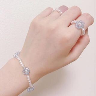 ブレスレット リング 指輪 ハンドメイド ビーズリング 韓国 アクセサリー(リング(指輪))