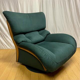 カリモクカグ(カリモク家具)の【karimoku】肘掛椅子(回転式)UT4707A825('01年製)No.1(一人掛けソファ)