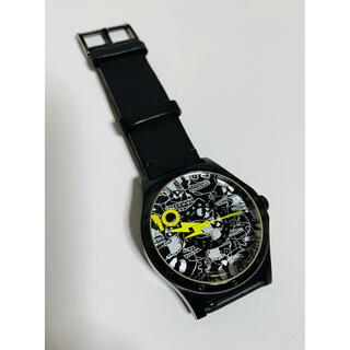 マークバイマークジェイコブス(MARC BY MARC JACOBS)の【電池新品の美品】マークバイマークジェイコブスの限定デザイン腕時計 ブラック②(腕時計(アナログ))