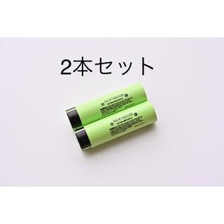 パナソニック(Panasonic)の18650 リチウムイオンバッテリー 3400mAh 3.7V 2本組 日本製(タバコグッズ)