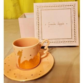 フランシュリッペ(franche lippee)の【franche lippée 】パステルピンクの白鳥カップ&ソーサー(グラス/カップ)