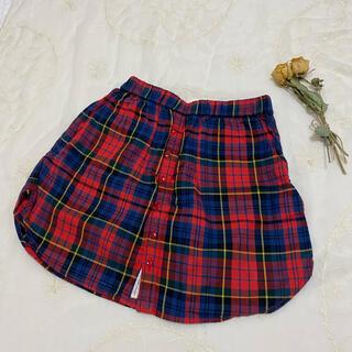 バナーバレット(Banner Barrett)のBanner Barrett バナーバレット♦︎チェック柄ボタンスカート(ひざ丈スカート)