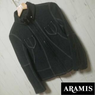 アラミス(Aramis)のr0002【ARAMIS】ウールライダースジャケット(size38/チャコール)(ライダースジャケット)