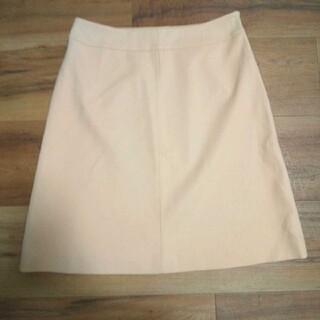 クレージュ(Courreges)のr0280【Courreges】台形スカート膝丈(40)オレンジベージュ 日本製(ひざ丈スカート)