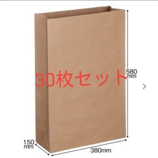 宅配袋(紙製) 茶 特大・マチ広サイズ 封かんシールなし (30枚入)(ラッピング/包装)