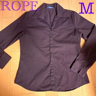 ロペ(ROPE)のお値下げ✨美品✨ROPE ロペ 長袖シャツ パープル S〜 M(シャツ/ブラウス(長袖/七分))