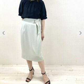 ノーリーズ(NOLLEY'S)のNOLLEYS麻調合繊タイトスカート(ひざ丈スカート)