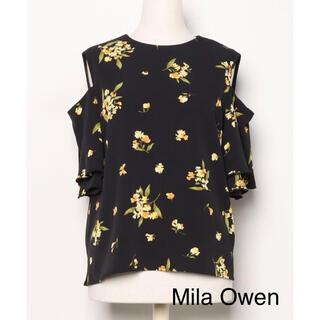 ミラオーウェン(Mila Owen)のMila Owen オープンショルダー花柄トップス(シャツ/ブラウス(半袖/袖なし))
