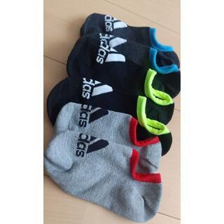 アディダス(adidas)の【美品、未使用】アディダスキッズ靴下3足セット◆19-21センチ(靴下/タイツ)