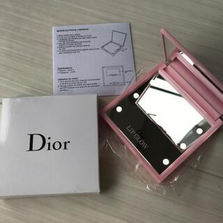 ディオール(Dior)のディオール Dior ミラー 女優ミラー ライト ピンク ロゴ 限定 レア 新品(ミラー)