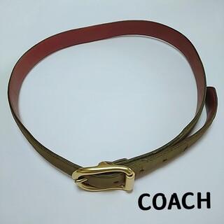 コーチ(COACH)のコーチ ベルト グリーン レディース メンズ(ベルト)