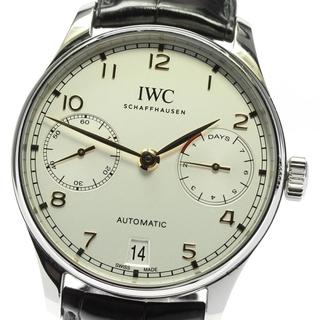 インターナショナルウォッチカンパニー(IWC)の☆美品 IWC ポルトギーゼ 7デイズ  IW500704 メンズ 【中古】(腕時計(アナログ))