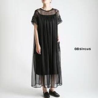 トーガ(TOGA)の¥77,760 08sircus ギャザーシアー ドレス ワンピース ブラック(ロングワンピース/マキシワンピース)