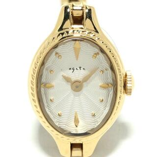 agete - アガット 腕時計 - レディース シルバー