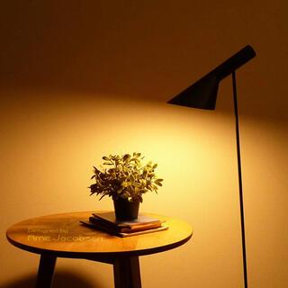 アルネヤコブセン(Arne Jacobsen)のAJ フロアライト ブラック LED電球付 アルネ・ヤコブセン (フロアスタンド)