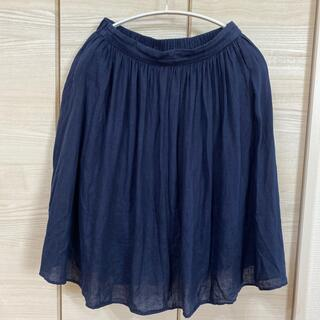 ドアーズ(DOORS / URBAN RESEARCH)のアーバンリサーチ リネンスカート ネイビー(ひざ丈スカート)