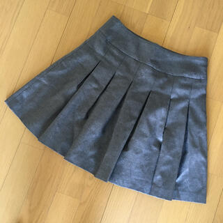 オリゾンティー(ORIZZONTI)のミュア コティディエンヌ ミニスカート ラメ混パープルグレー 日本製 Mサイズ(ミニスカート)