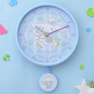 サンリオ(サンリオ)のシナモロールプレミアムスイングクロック 時計 シナモンロール サンリオ(掛時計/柱時計)