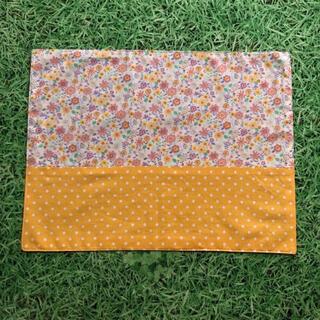 オレンジ花柄ランチョンマット 30×40 ランチマット(外出用品)