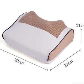 多機能  16Dマッサージ枕 肩 首  クッション マッサージャー 肩凝り (エクササイズ用品)
