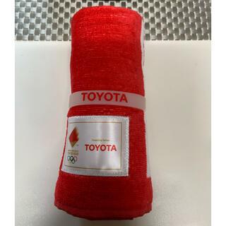 トヨタ(トヨタ)の東京オリンピック × TOYOTA タオル 新品未使用(タオル/バス用品)