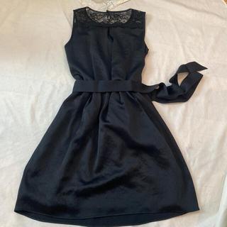 ロートレアモン(LAUTREAMONT)の新品・未使用  LAUTRE AMONT ワンピース ドレス40サイズブラック (ミディアムドレス)