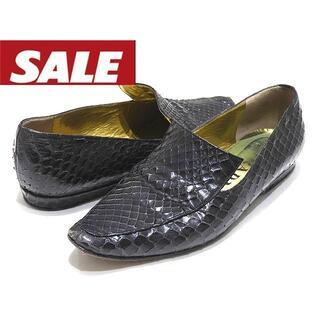 プラダ(PRADA)のプラダ ローファー ◆ サイズ34 パイソン レザー ブラック(ローファー/革靴)