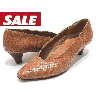 プラダ(PRADA)のプラダ パンプス ◆ サイズ35 編み込みデザイン レザー ブラウン(ローファー/革靴)