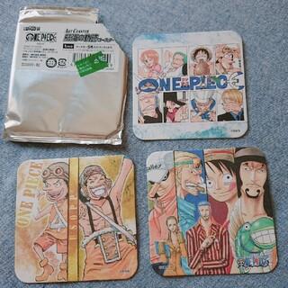 新品*ワンピースアートコースター3枚(少年漫画)
