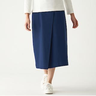 ムジルシリョウヒン(MUJI (無印良品))の無印良品 ストレッチチノ・イージーセミフレアスカート(ロングスカート)