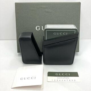 グッチ(Gucci)の美品 GUCCI オールドグッチ トランプ レザーケース付き 箱付き ビンテージ(トランプ/UNO)