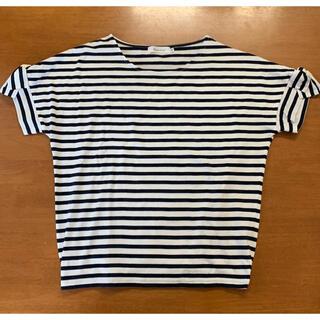 クチュールブローチ(Couture Brooch)のクチュールブローチ 半袖 ボーダーカットソー サイズ38(カットソー(半袖/袖なし))