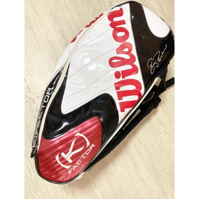 wilson(ウィルソン)のウィルソン テニス ラケットバック 希少 ロジャーフェデラー モデル スポーツ/アウトドアのテニス(バッグ)の商品写真