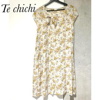 テチチ(Techichi)のTe chichi  ワンピース 小花柄 アイボリー M L (ひざ丈ワンピース)