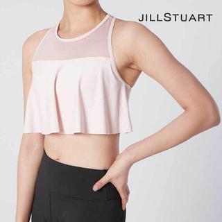 ジルスチュアート(JILLSTUART)の新品■JILL STUART ジルスチュアート ヨガトップス ピンクS(ヨガ)
