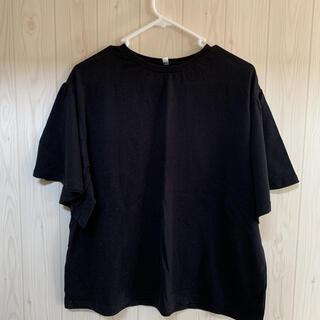アダプト(adapt)の袖ひらり 黒Tシャツ半袖(Tシャツ(半袖/袖なし))