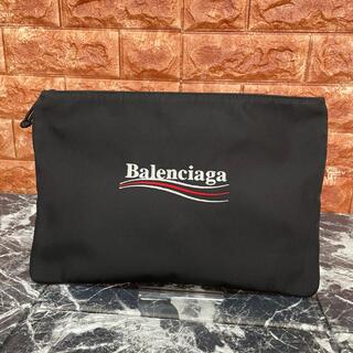 バレンシアガ(Balenciaga)の美品 BALENCIAGA ナイロン  クラッチバッグ バレンシアガ(クラッチバッグ)