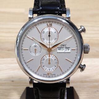 新品同様 IWC 現行 ポートフィノ・クロノグラフ 腕時計 メンズ オートマ
