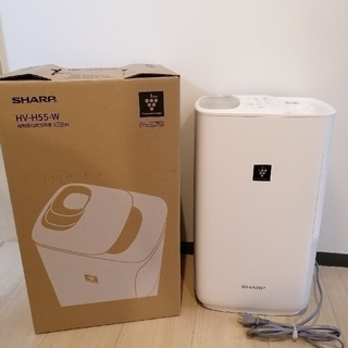 SHARP - SHARP 加熱気化式加湿器 プラズマクラスター HV-H55-W