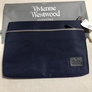 ヴィヴィアンウエストウッド(Vivienne Westwood)の新品タグ付 ヴィヴィアンウエストウッド  クラッチバッグ ネイビー(ショルダーバッグ)