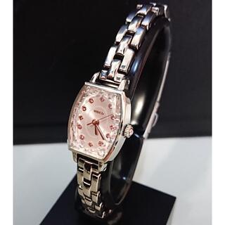 ワイアード(WIRED)のWIRED レディース 時計 ラインストーン ピンク シルバー(腕時計)