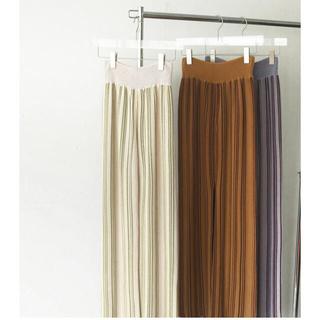 トゥデイフル(TODAYFUL)の専用Stripe Knit Leggings 38(レギンス/スパッツ)