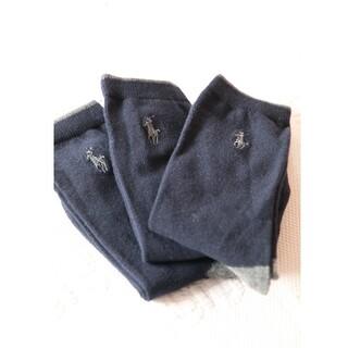 ポロラルフローレン(POLO RALPH LAUREN)のポロラルフローレンのキッズ用ソックス3足セット 20-22cm【新品】(靴下/タイツ)