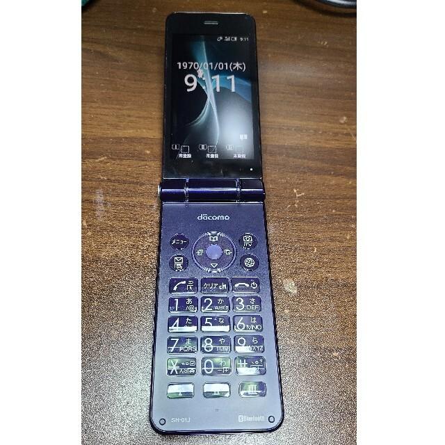 AQUOS(アクオス)のdocomo AQUOS ケータイSH-01J ブルーブラック SIMフリー ⑤ スマホ/家電/カメラのスマートフォン/携帯電話(携帯電話本体)の商品写真