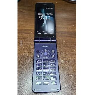 アクオス(AQUOS)のdocomo AQUOS ケータイSH-01J ブルーブラック SIMフリー ⑤(携帯電話本体)
