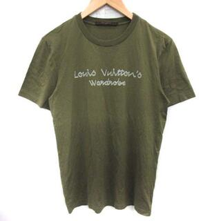 ルイヴィトン(LOUIS VUITTON)のルイヴィトン Tシャツ カットソー プリント イタリア製 カーキ /ST(その他)
