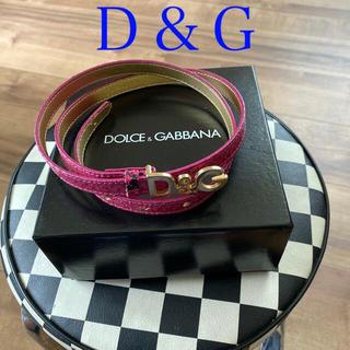 ドルチェアンドガッバーナ(DOLCE&GABBANA)の[💕D&G  ピンク&ブラック パイソンベルト💕](ベルト)