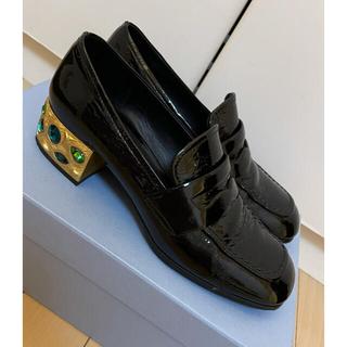 プラダ(PRADA)のPRADA ローファー ビジュー(ローファー/革靴)