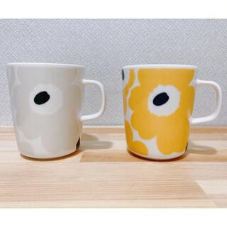 marimekko - マリメッコ ウニッコ ベージュ・ダークグリーン マリーゴールド マグカップ